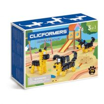 Clicformers Set De Construit Magnetic Catei (74 Piese)