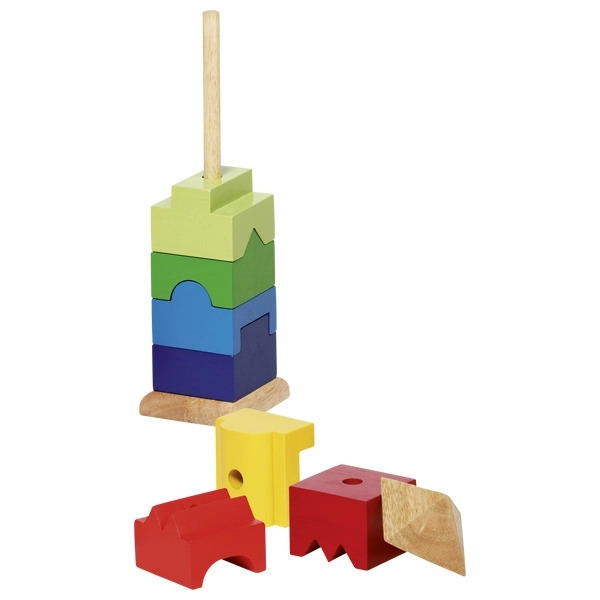 Joc Turn Multicolor 9 Piese Din Lemn Unice