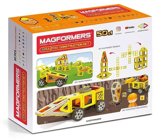 Magformers – Șantierul De Construcții 50 Piese (Back)