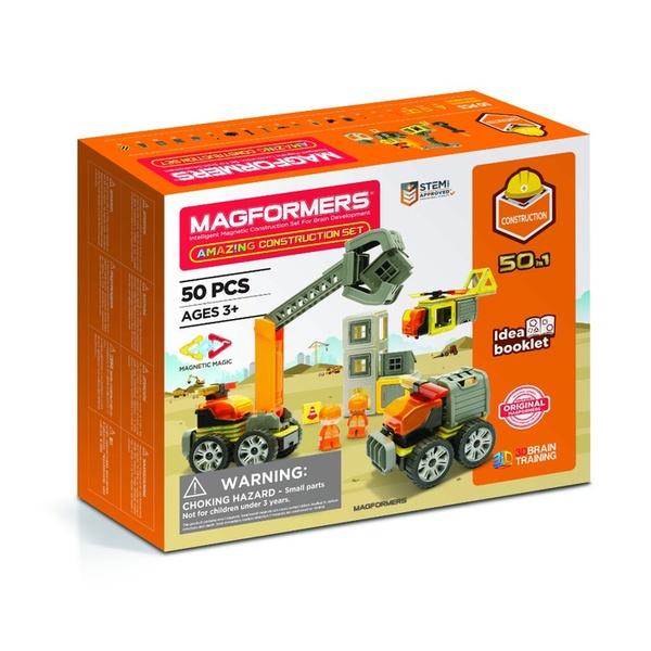 Set Magnetic Magformers – Șantierul De Construcții 50 Piese