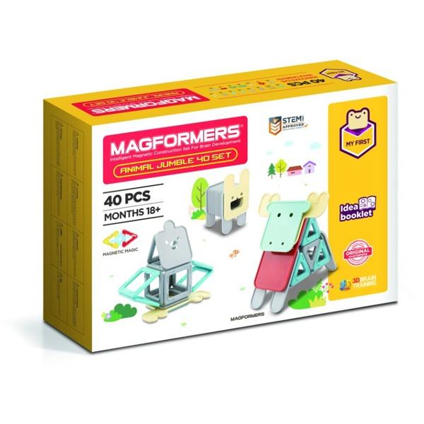 Set Magnetic De Construit – Magformers Animale 40 Piese