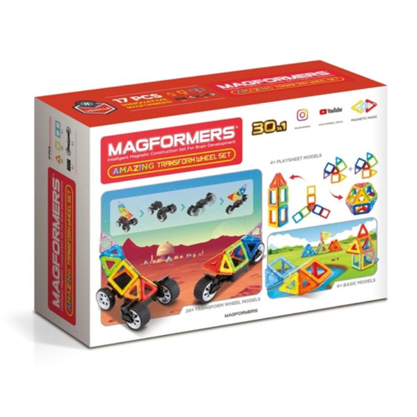 Magformers Vehicule 17 Piese Magnetice (Back)