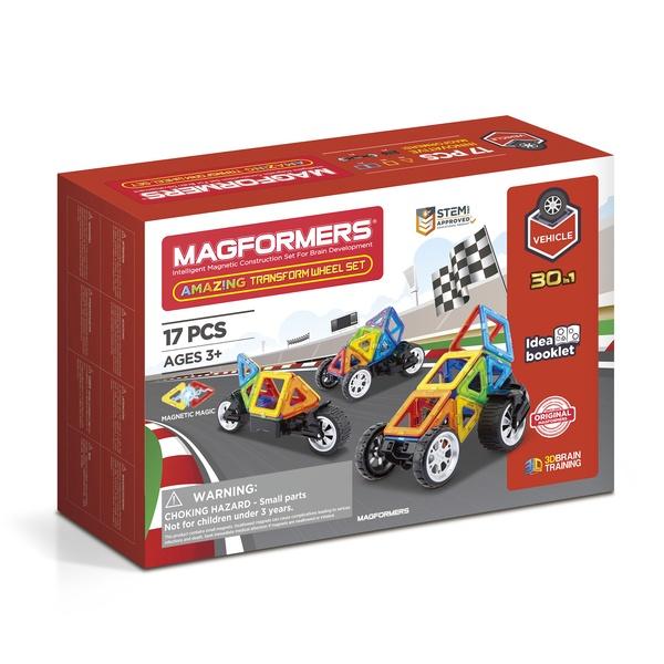 Set Magnetic Magformers Vehicule 17 Piese