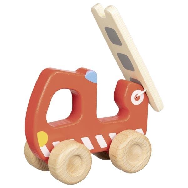 Mașină De Pompieri Din Lemn – Joc De Rol