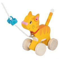 Pisicuță Din Lemn - Jucărie De Tras