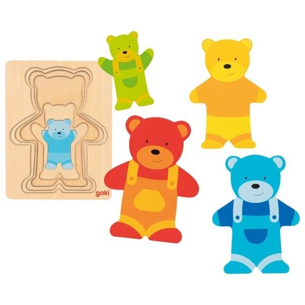 Puzzle Încastru – Ursuleți Colorați