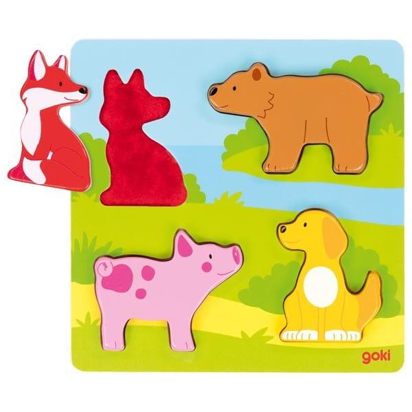 Puzzle Cu Animale Din Lemn – Joc De Îndemânare Pentru Bebeluși 1