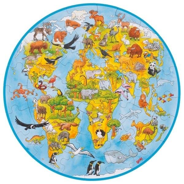 Puzzle Copii Harta Lumii XXL
