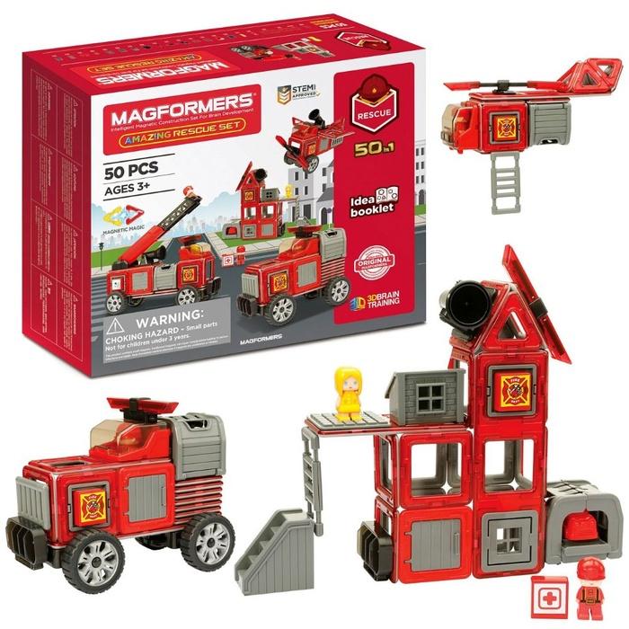 Set Magnetic Magformers – Stația De Pompieri (2)