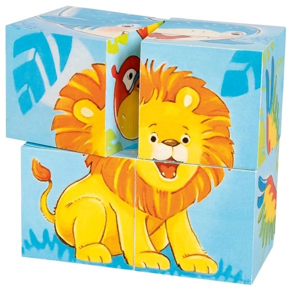 Cuburi Din Lemn Pentru Bebeluși – Animale Sălbatice