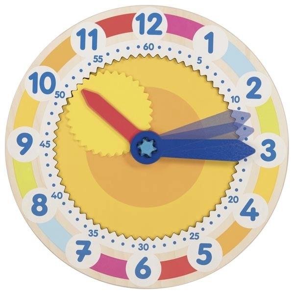 Ceas Din Lemn Cu Mecanism Rotițe Dințate