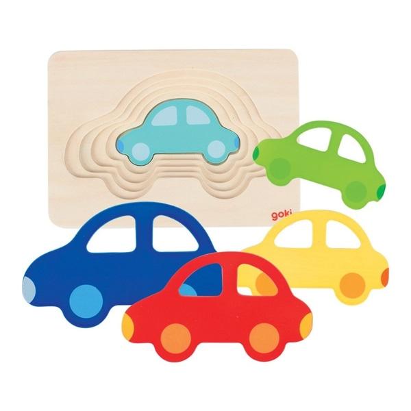 Puzzle Încastru Mașinuțe Colorate