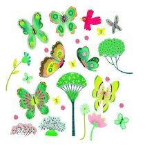 Abțibilduri Pentru Fereastă - Fluturi Din Grădină (51 Piese)