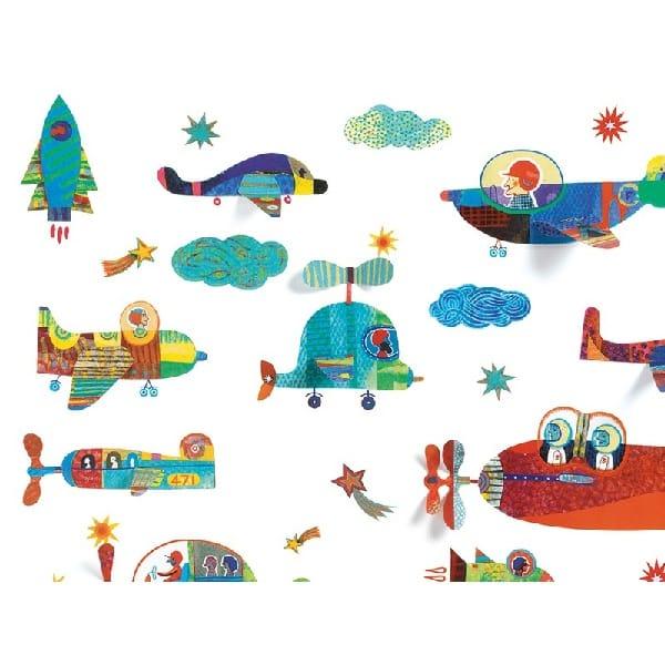 Abțibilduri Pentru Fereastă – Vehicule Zburătoare (44 Piese)