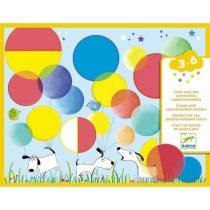 """Abțibilduri Repoziționabile Pentru Copii """"Cercuri Magice"""" (28 Stickere)"""