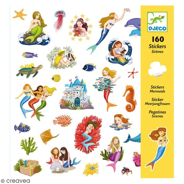 Abțibilduri Sirene (160 Stickere)