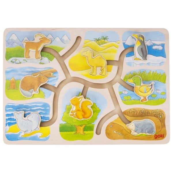 Căsuța Animalelor – Labirint Puzzle Din Lemn