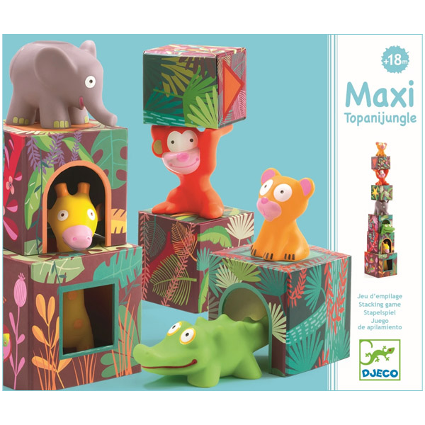 Cuburi Căsuțe Animale MAXI Topanijungle