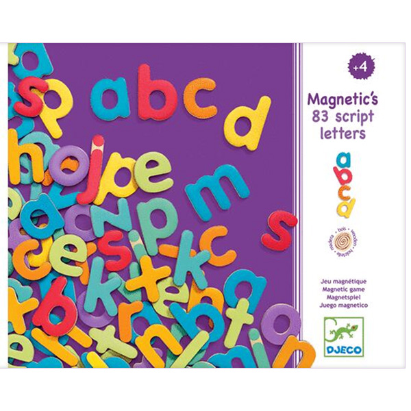 Alfabet Litere Mici De Tipar Magnetice (83 Litere)