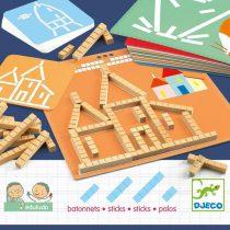 Djeco Joc Constructie Bete (Sticks) Forme Geometrice