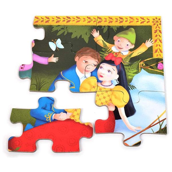 Djeco Puzzle Alba Ca Zapada Si Cei 7 Pitici (1)