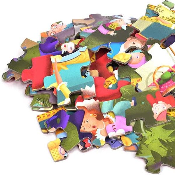 Djeco Puzzle Alba Ca Zapada Si Cei 7 Pitici (3)