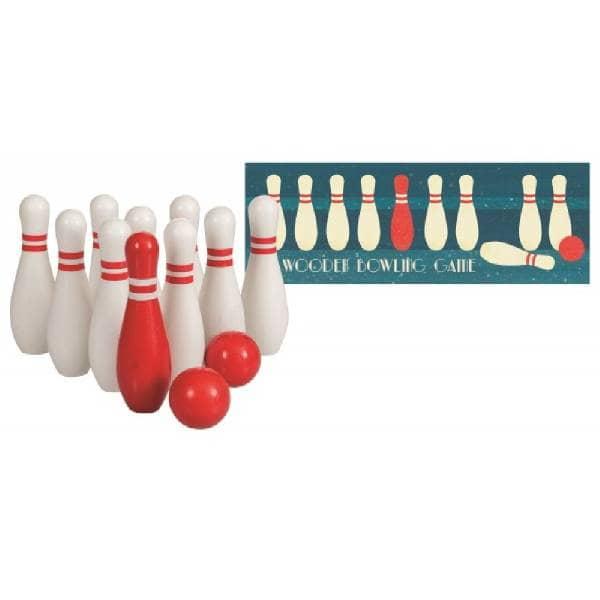 Joc Bowling Cu Popice Din Lemn