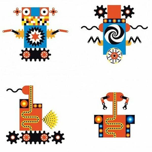 Joc De Construit Pentru Copii Roboții Kinoptik3