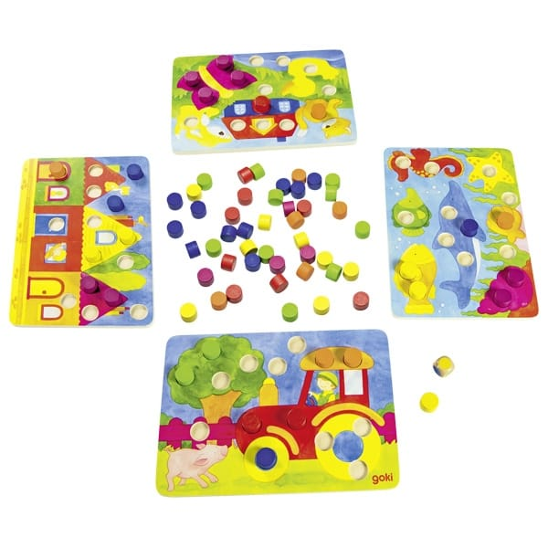 Joc Din Lemn Pentru Învățat Culorile
