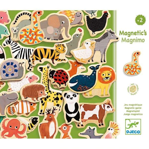 Set 42 Animale Magnetice Din Lemn