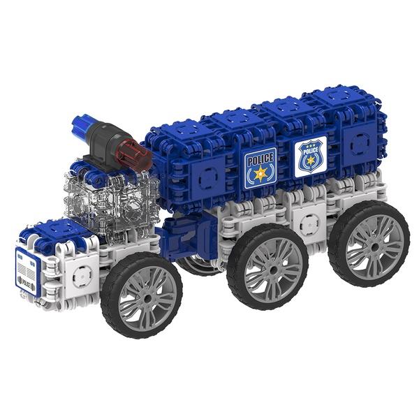 Joc Magnetic De Construit Mașini De Poliție (2)