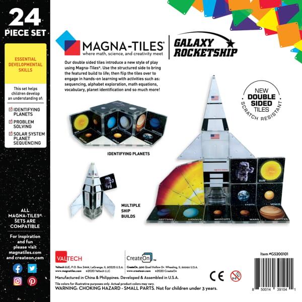 Joc Magnetic De Construit – Racheta 'Magna-Tiles'