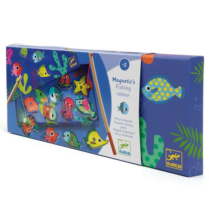 Joc de pescuit magnetic cu pesti colorati Djeco (2)