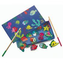 Joc de pescuit magnetic cu pesti colorati Djeco