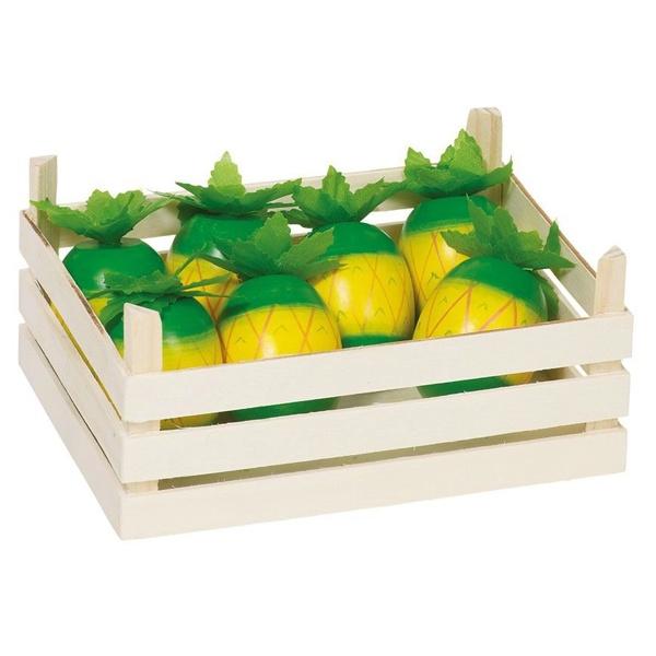 Fructe Ananas Din Lemn În Cutie