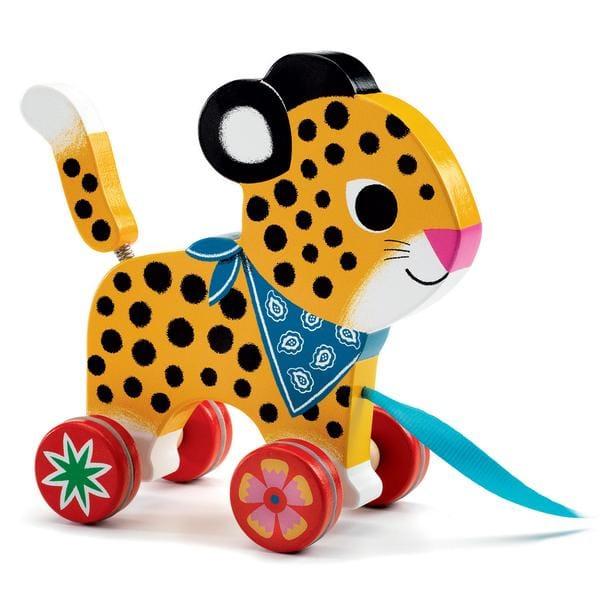 """Leopardul """"Greta"""" – Jucărie De Tras"""