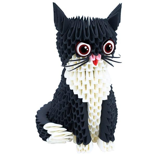 Origami 3D Creagami Pisică-1
