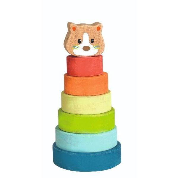 Piramidă Montessori Din Lemn – Pisica