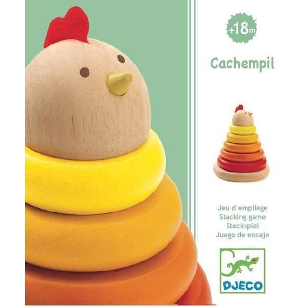 Piramidă Montessori Din Lemn – Găină
