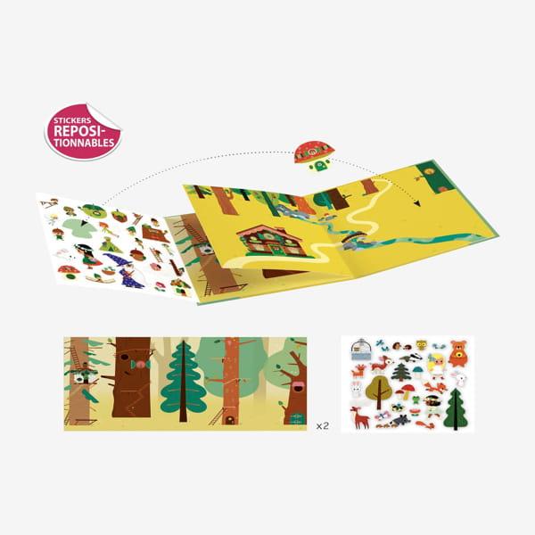 Planșe Cu Stickere Repoziționabile – Pădurea Fermecată.jpg3