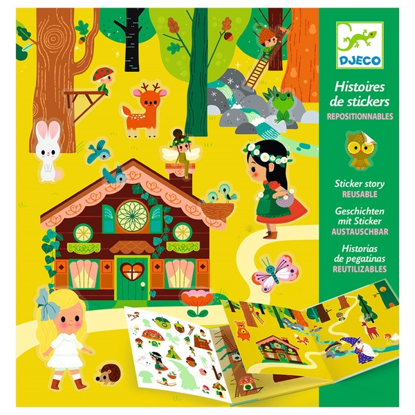 """Stickere Pentru Copii """"Pădurea Fermecată"""""""