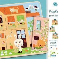 """Puzzle 3 Nivele """"Căsuța Iepurașilor"""""""