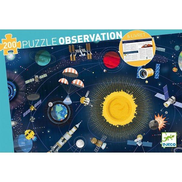 """Puzzle Băieți """"Observație Cosmos""""(200 Piese)"""