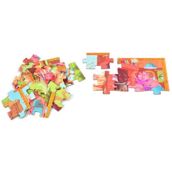 Puzzle Copii Cei 3 Purceluși (24 Piese)-3