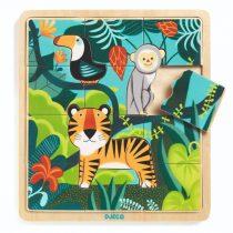 Puzzle Din Lemn - Animalele Din Junglă