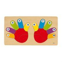 Puzzle Din Lemn - Mânuțele Colorate