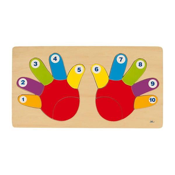 Puzzle Din Lemn – Mânuțele Colorate