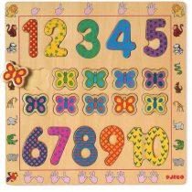 Puzzle Din Lemn Pentru Copii - Cifre ( 20 Piese)