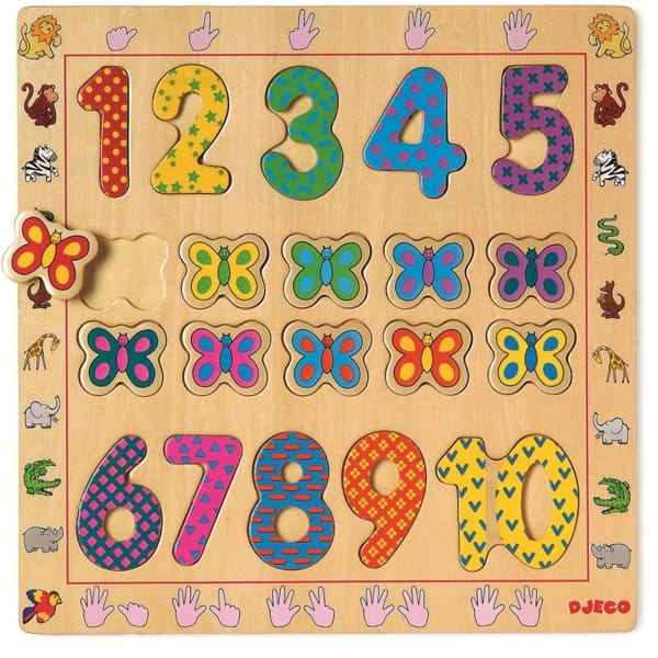 Puzzle Din Lemn Cu Cifre (20 Piese)