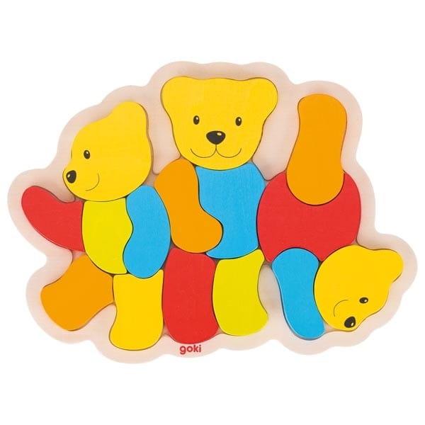 Puzzle Din Lemn – Ursuleții Colorați